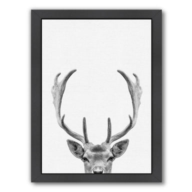 Deer By Nuada - Black Framed Print - Wall Art - Americanflat
