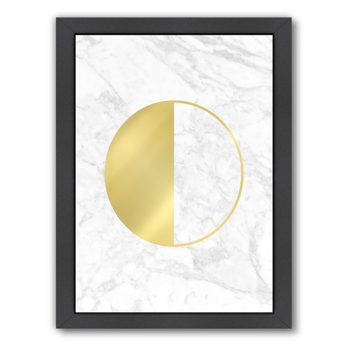 Gold Circle By Nuada - Black Framed Print - Wall Art - Americanflat