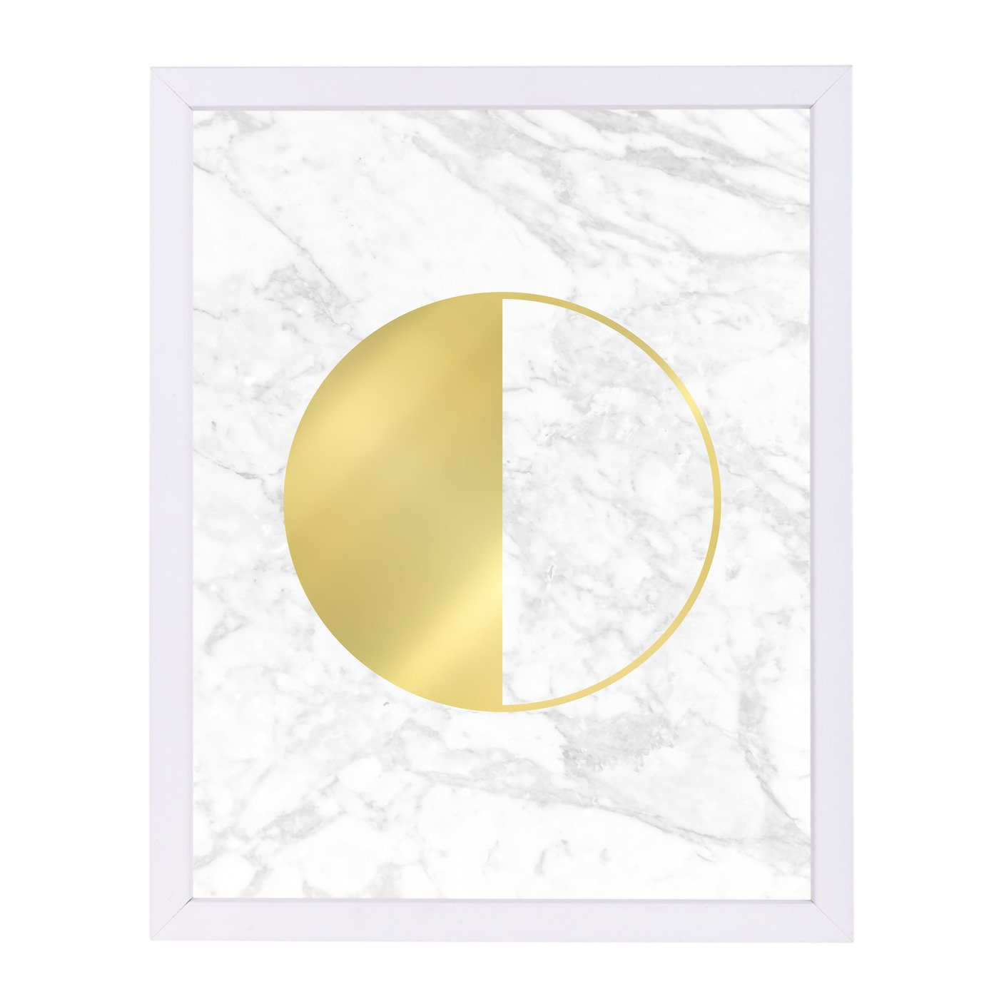 Gold Circle By Nuada - Framed Print - Americanflat