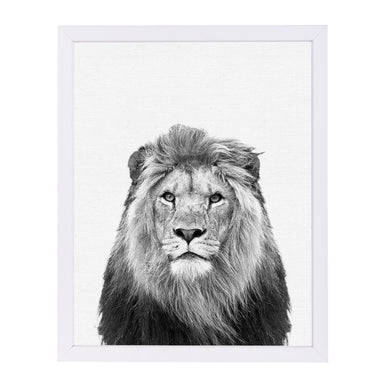 Lion By Nuada - White Framed Print - Wall Art - Americanflat