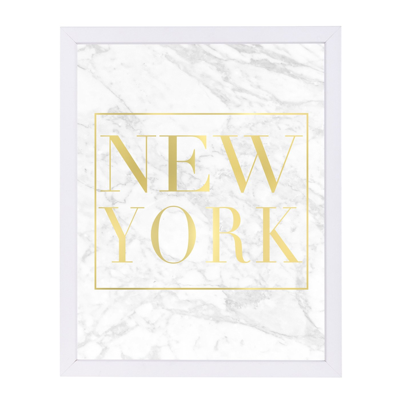 New York White Marble By Nuada - Framed Print - Americanflat