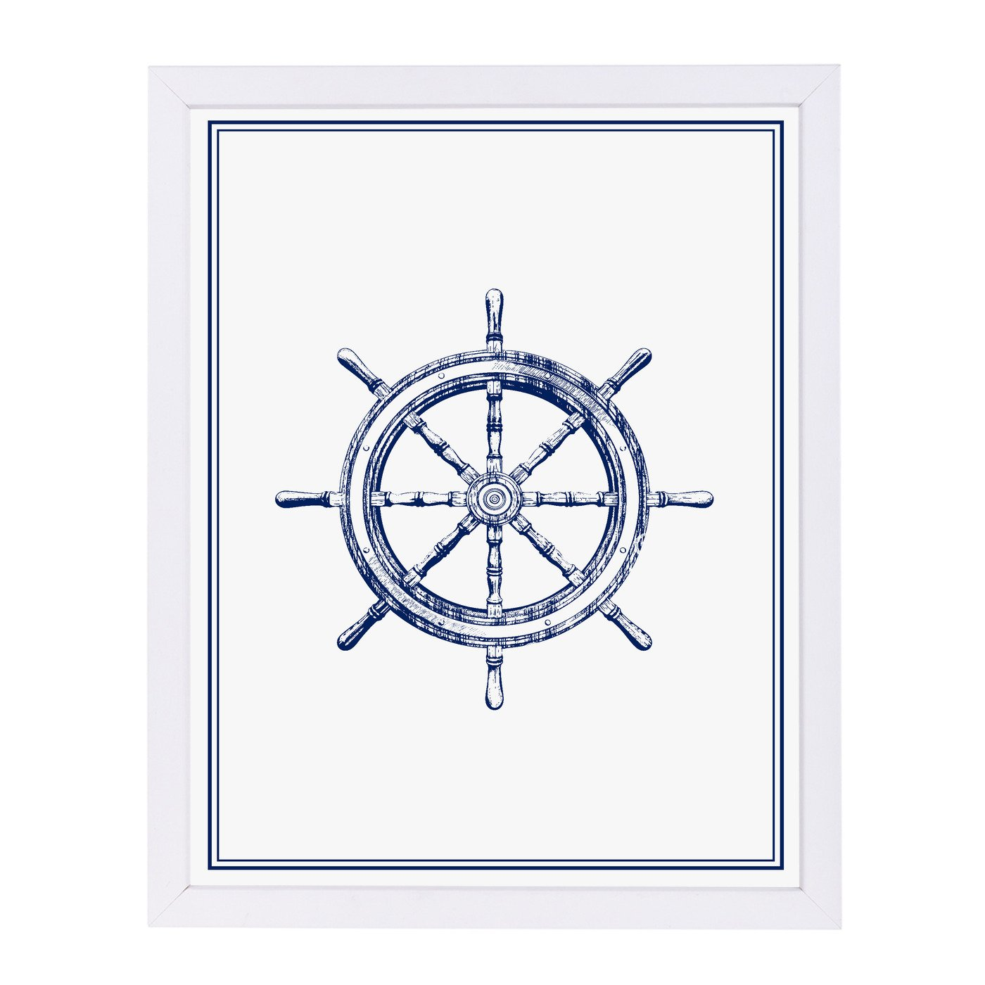 Ship Wheel By Nuada - Framed Print - Americanflat