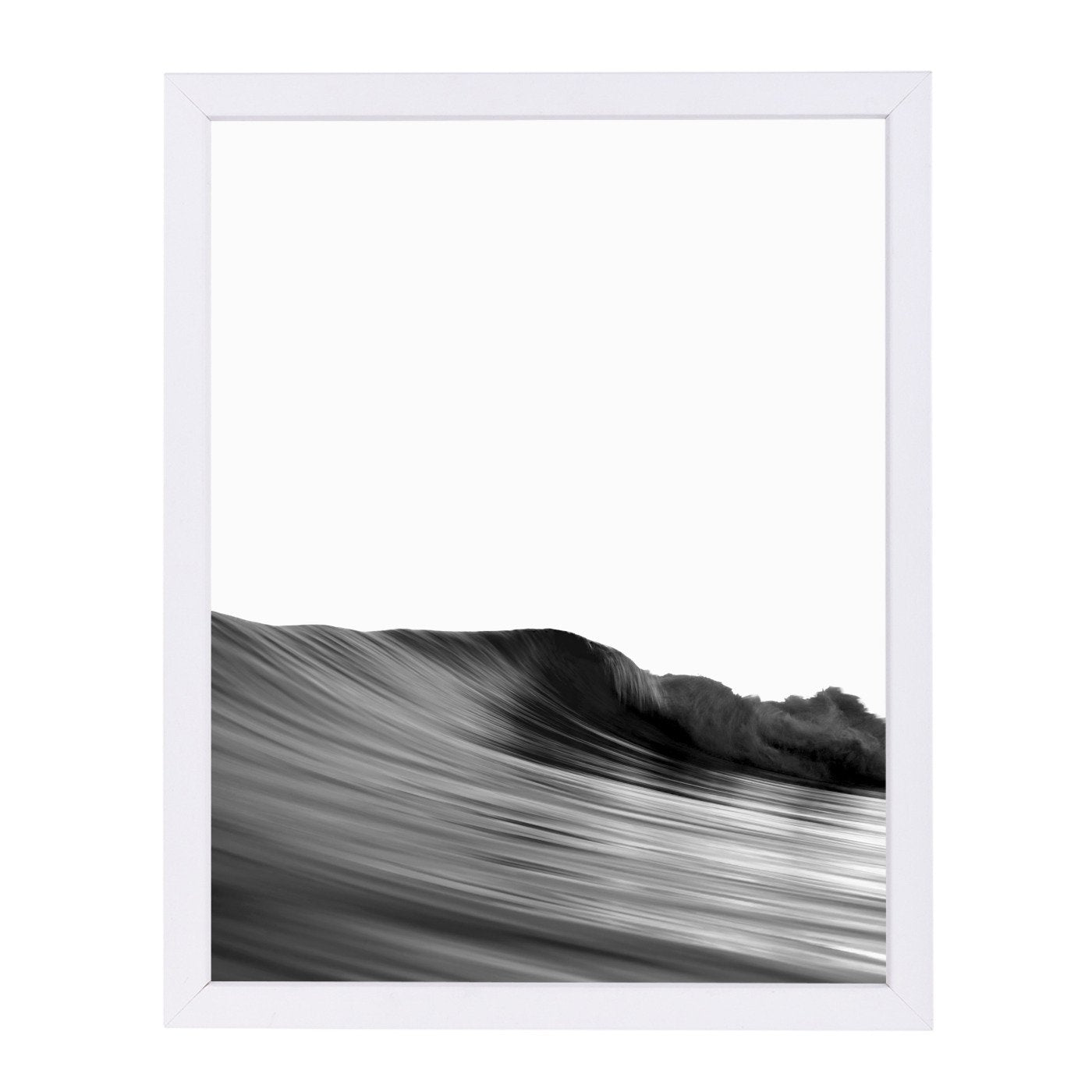 Wave Black And White By Nuada - Framed Print - Americanflat