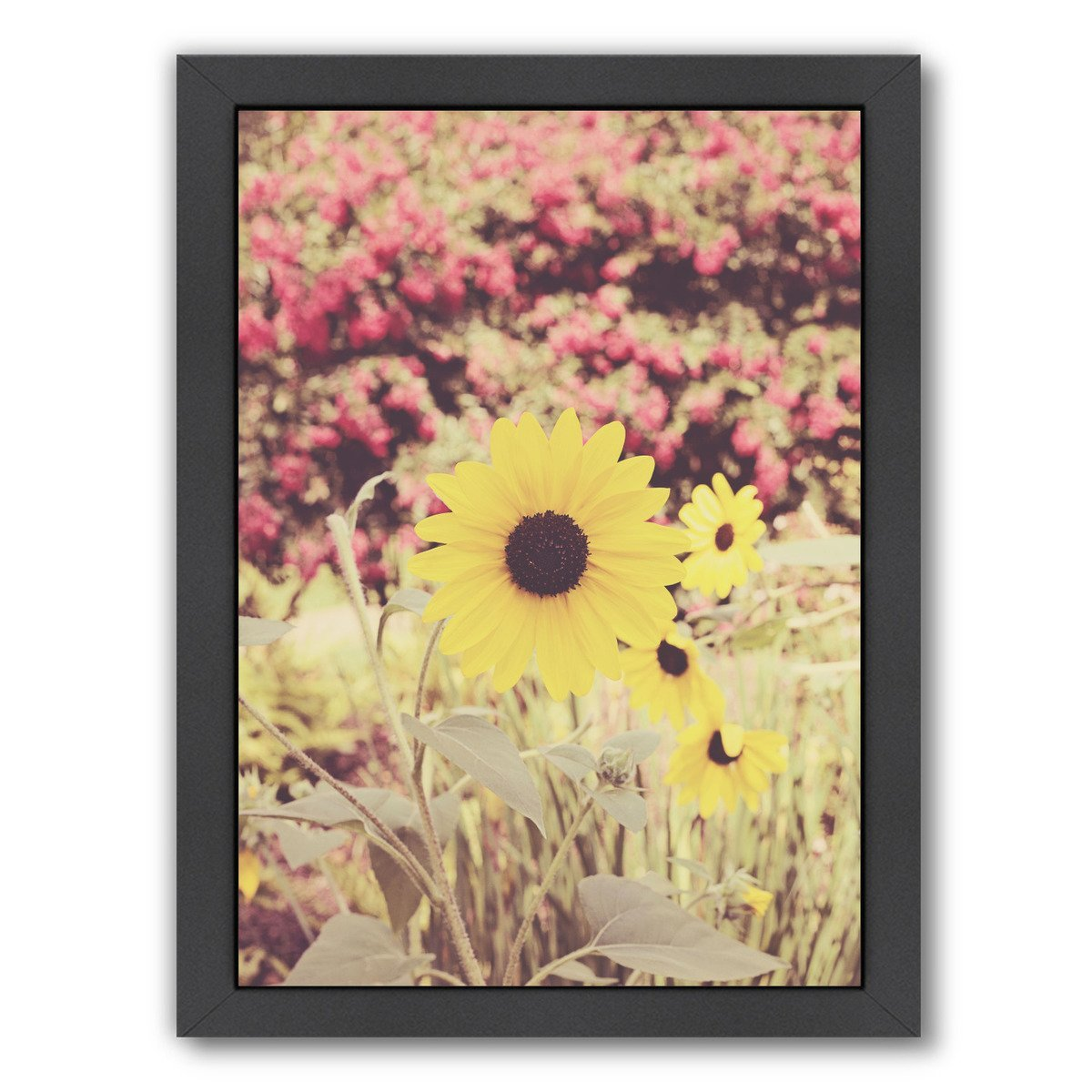 Among The Wildflowers By The Gingham Owl - Black Framed Print - Wall Art - Americanflat