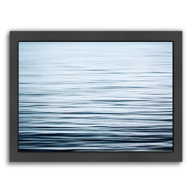 Liquid Blue Sea By The Gingham Owl - Black Framed Print - Wall Art - Americanflat
