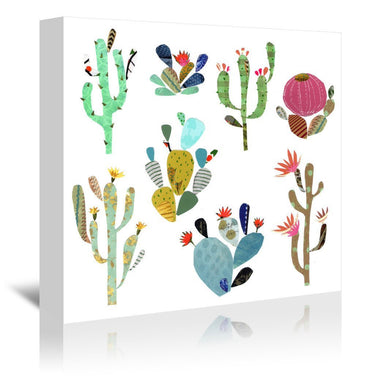 Cactus Art By Liz And Kate Pope - Wrapped Canvas - Wrapped Canvas - Americanflat