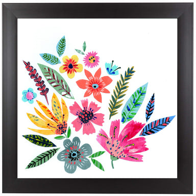 Pretty Summer Flowers by Liz and Kate Pope Black Framed Print - Wall Art - Americanflat