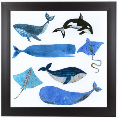 Sea Life by Liz and Kate Pope Black Framed Print - Wall Art - Americanflat