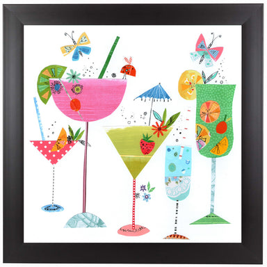 Summer Cocktails by Liz and Kate Pope Black Framed Print - Wall Art - Americanflat