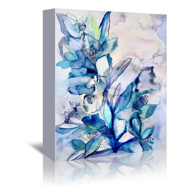 Aqua Floral by Hope Bainbridge - Wrapped Canvas - Wrapped Canvas - Americanflat