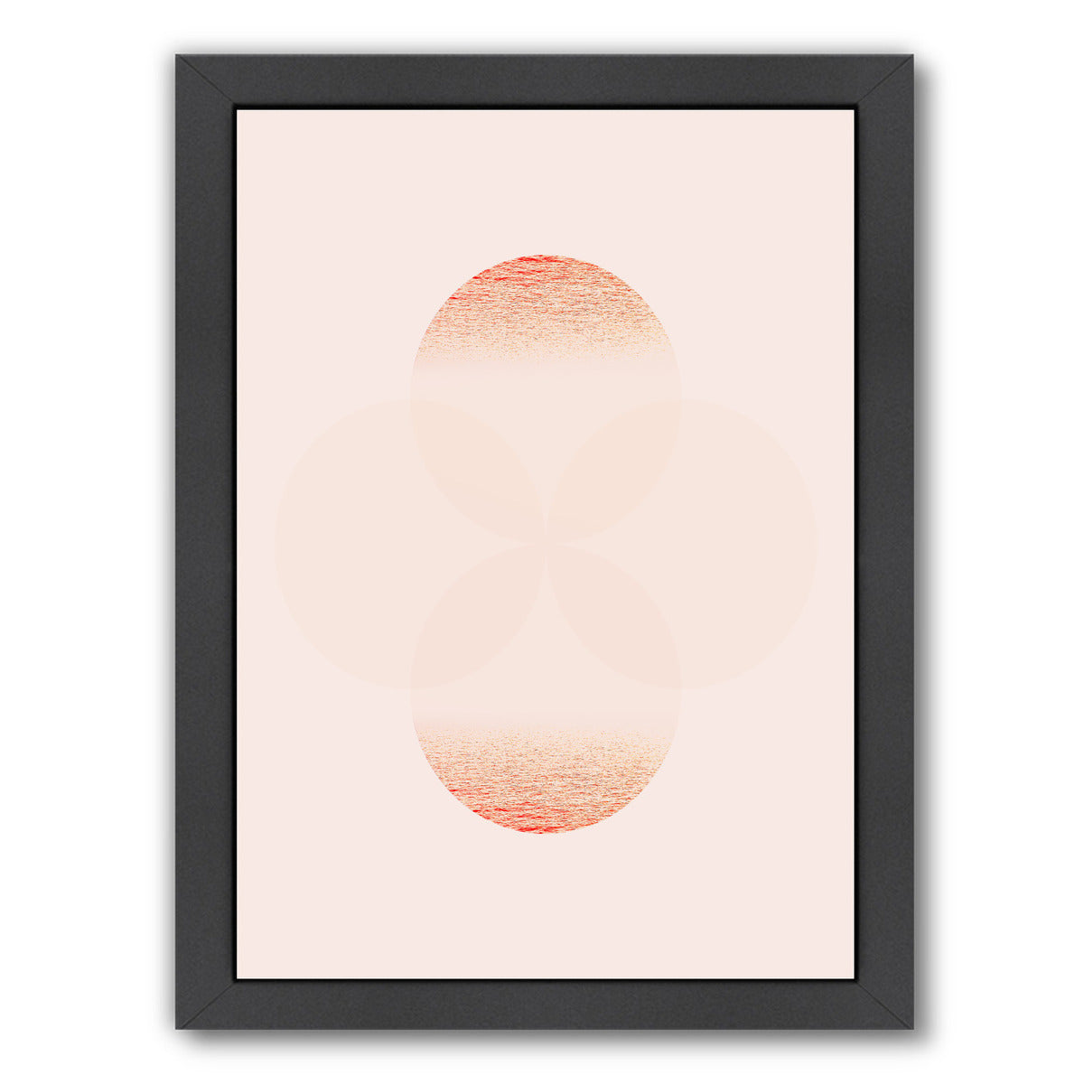 Lunar Blush I by Hope Bainbridge - Black Framed Print - Wall Art - Americanflat