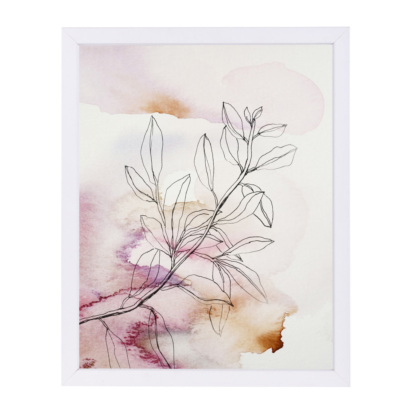 "Whisper Petals III by Hope Bainbridge - White Framed Print, Wall Art, Hope Bainbridge, 8"" x 10"""