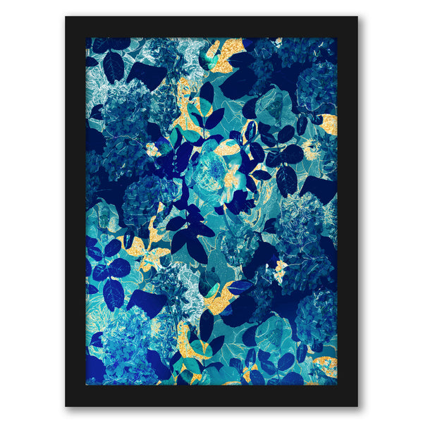 "Midnight Floral by Hope Bainbridge - Black Framed Print, Wall Art, Hope Bainbridge, 8"" x 10"""