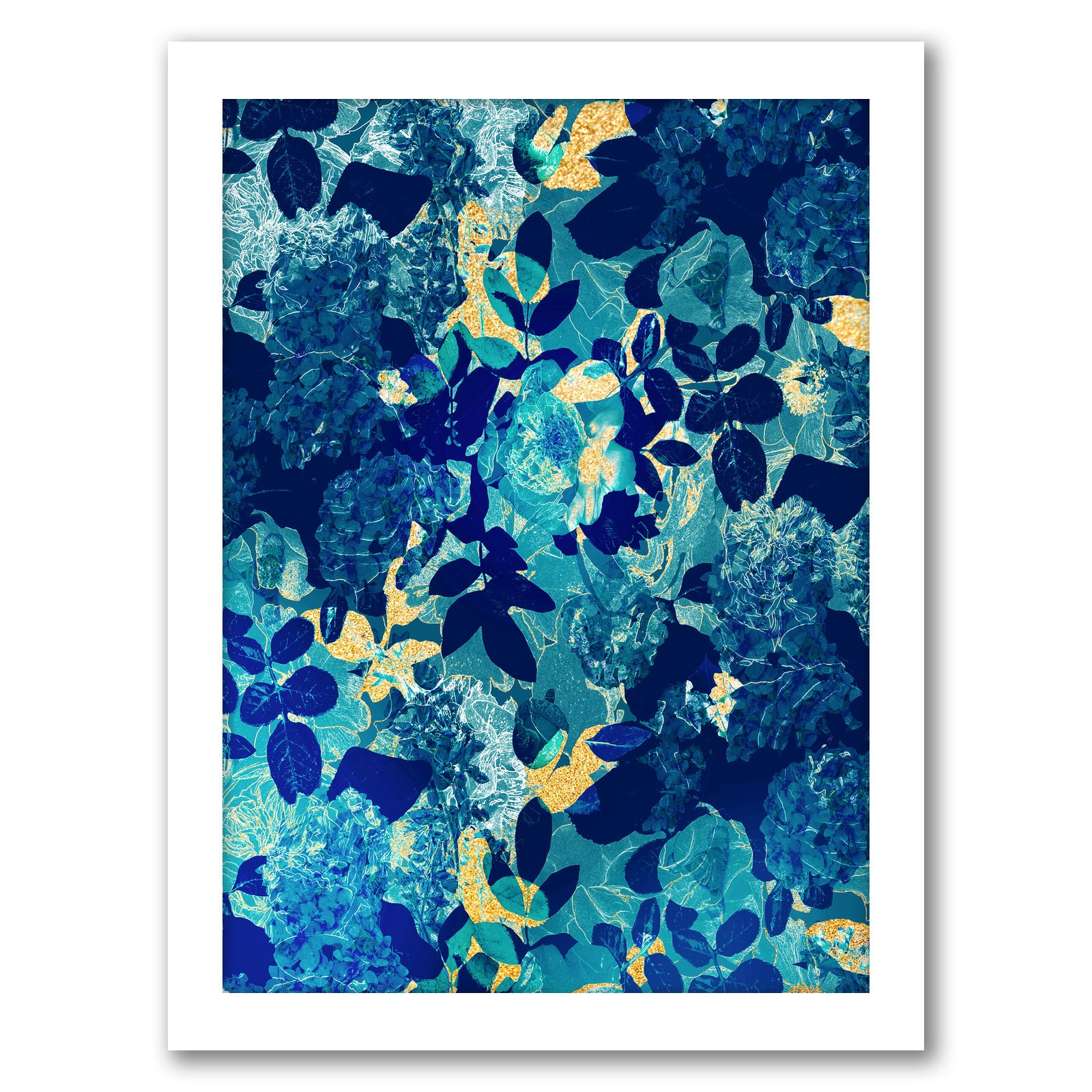 Midnight Floral by Hope Bainbridge - White Framed Print - Wall Art - Americanflat