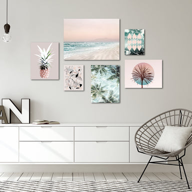 Tropical Beach Canvas Gallery Wall Set - Art Set - Americanflat