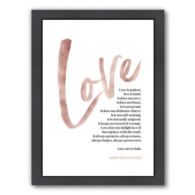 Love Is Patient By Elena David - Black Framed Print - Wall Art - Americanflat