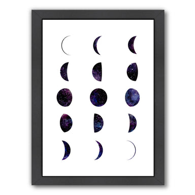 Moon Phases By Elena David - Black Framed Print - Wall Art - Americanflat
