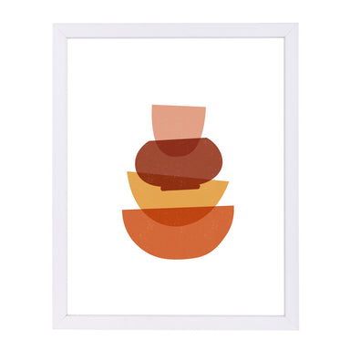 Stacked Bowls By Elena David - White Framed Print - Wall Art - Americanflat