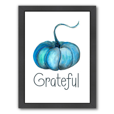 Pumpkin Grateful By Tj Heiser - Black Framed Print - Wall Art - Americanflat