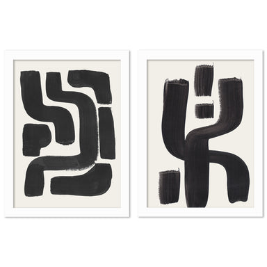 Ink Maze by Ejaaz Haniff - 2 Piece Framed Print Set - Americanflat