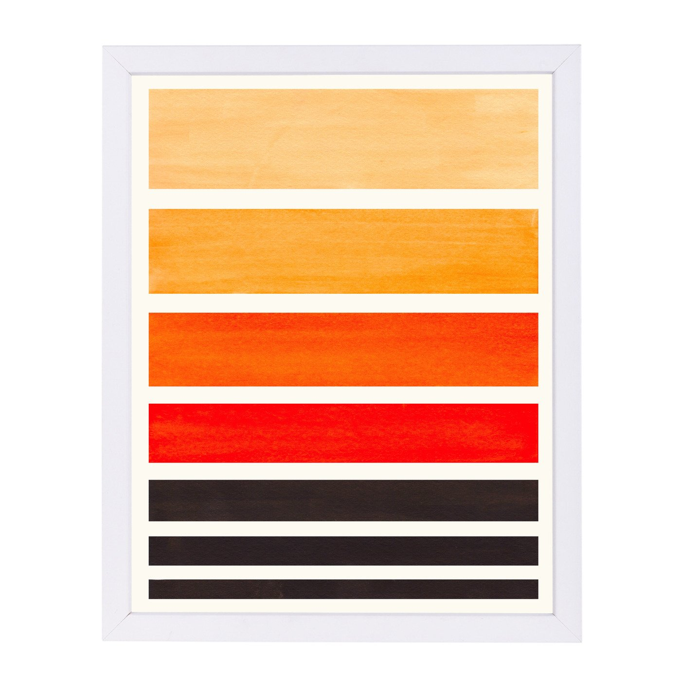 Orange Staggered Stripes By Ejaaz Haniff - Framed Print - Americanflat