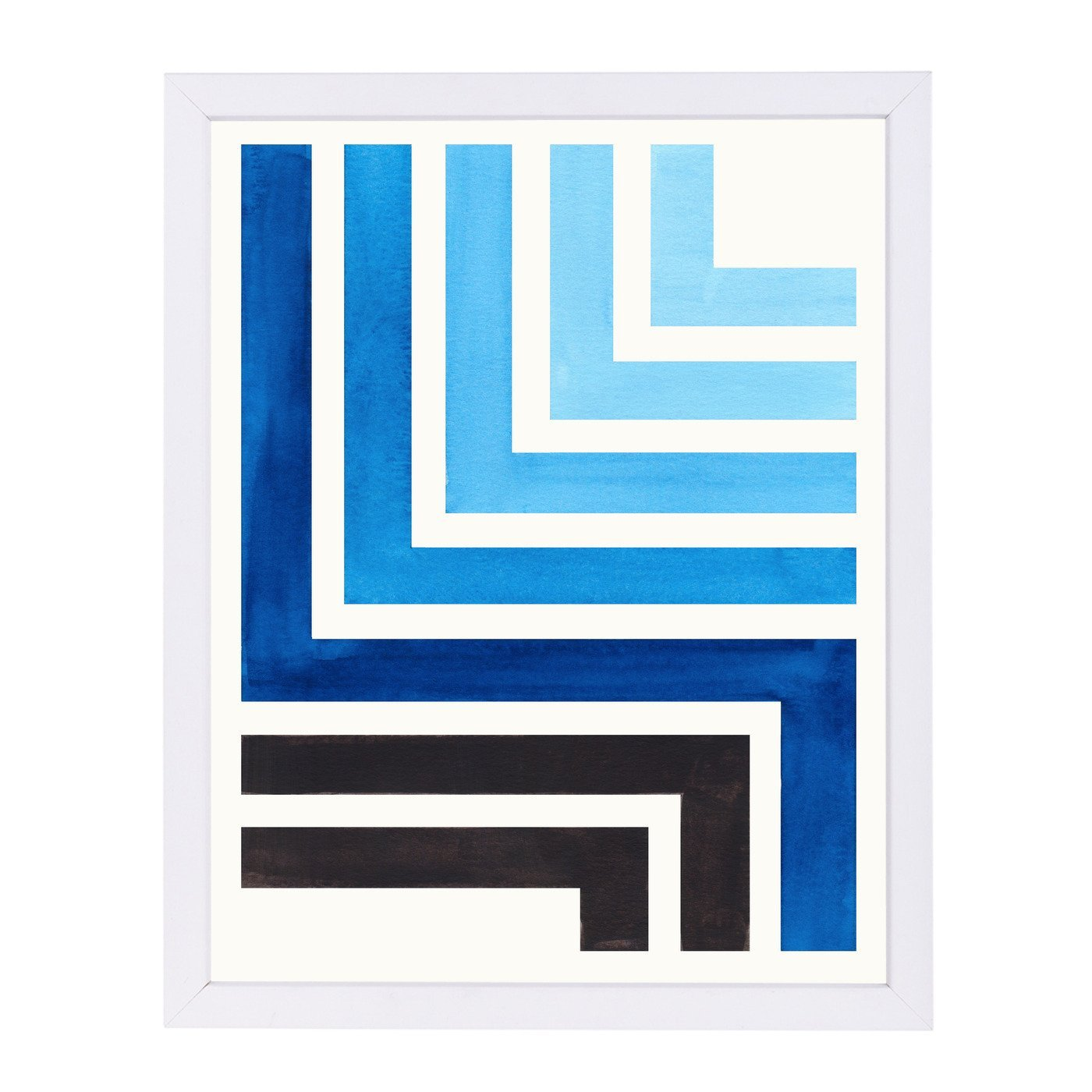 Blue Aztec Pattern By Ejaaz Haniff - Framed Print - Americanflat