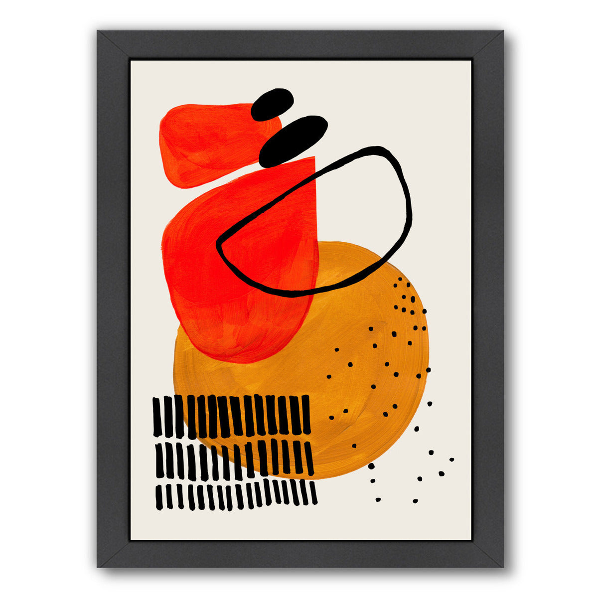 Sunset Orbit By Ejaaz Haniff - Black Framed Print - Wall Art - Americanflat