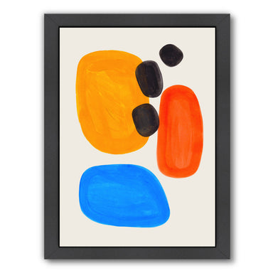 Primary Pebbles By Ejaaz Haniff - Black Framed Print - Wall Art - Americanflat