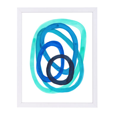 Ocean Spirals By Ejaaz Haniff - White Framed Print - Wall Art - Americanflat