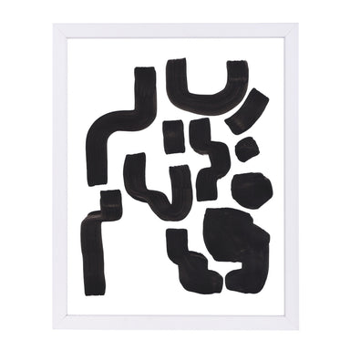 Tribal Ink Symbols By Ejaaz Haniff - White Framed Print - Wall Art - Americanflat