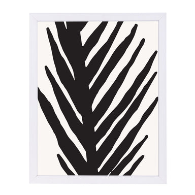 Abstract Minimal Palm By Modern Tropical - White Framed Print - Wall Art - Americanflat