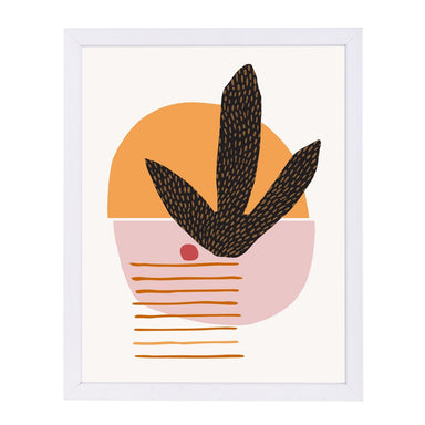 Cactus And Cherry By Modern Tropical - White Framed Print - Wall Art - Americanflat