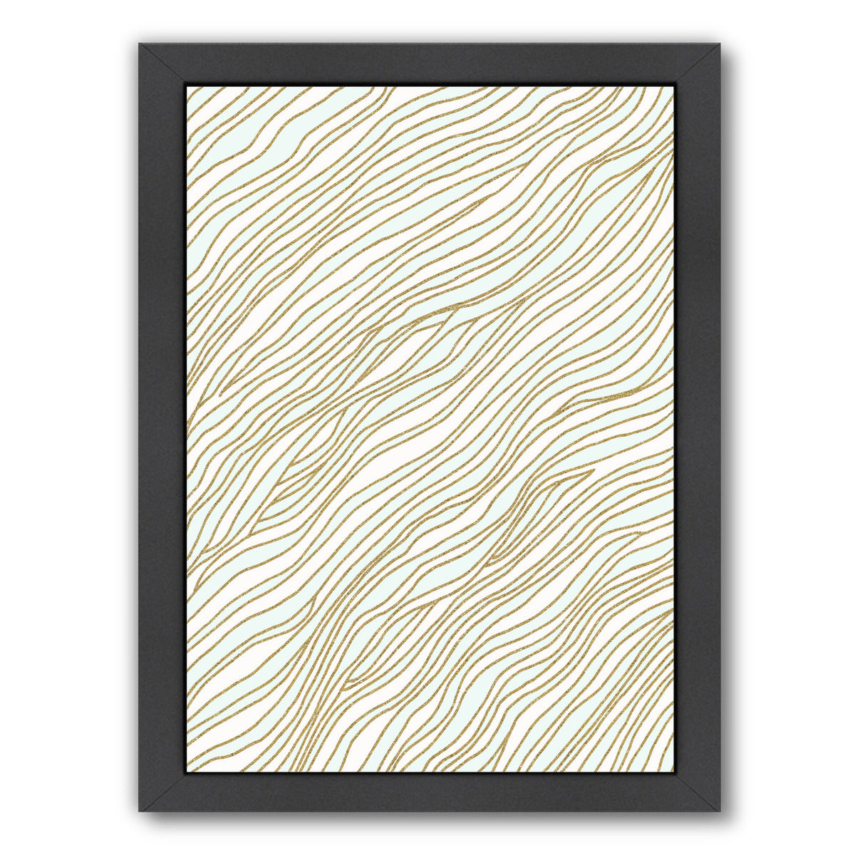 "Currents By Modern Tropical - Black Framed Print, Wall Art, Modern Tropical, 8"" x 10"""