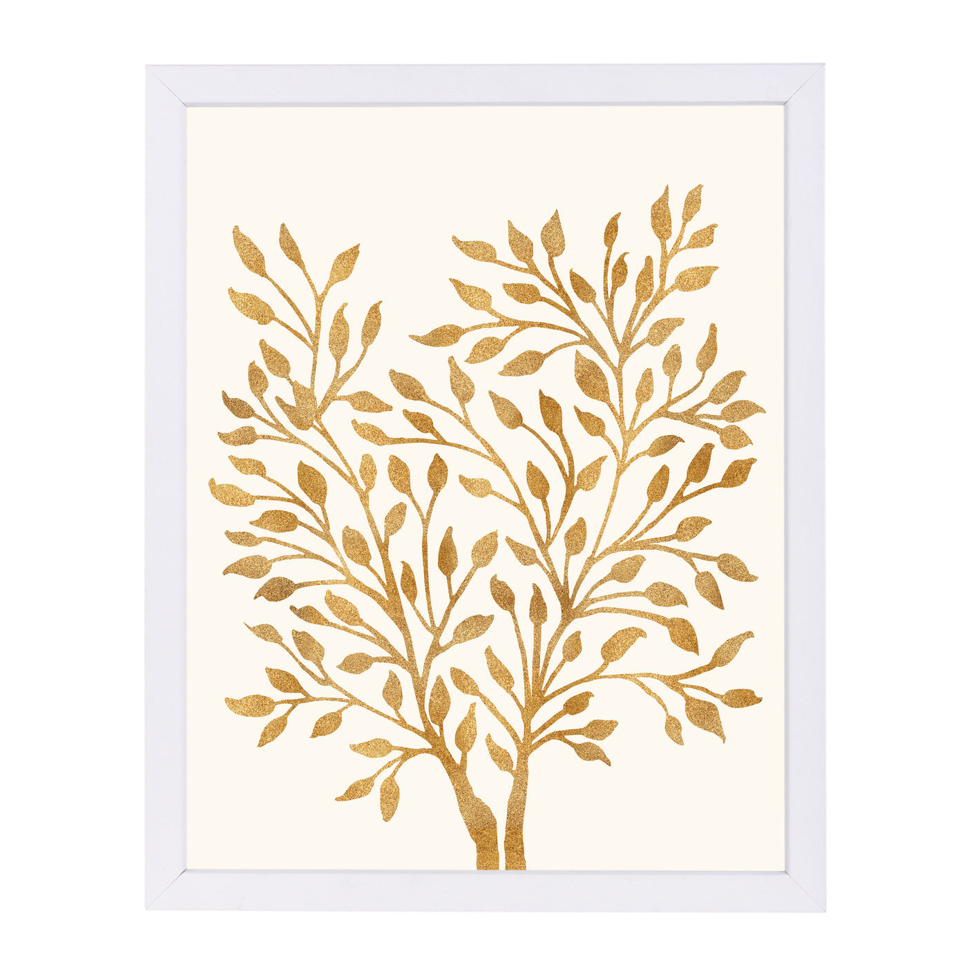 "Golden Ficus By Modern Tropical - White Framed Print, Wall Art, Modern Tropical, 8"" x 10"""