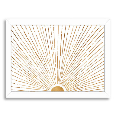 "Let The Sunshine In By Modern Tropical - White Framed Print, Wall Art, Modern Tropical, 8"" x 10"""