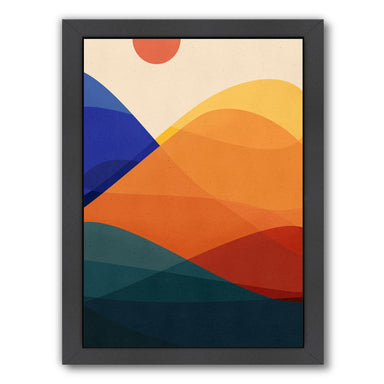 Meditative Mountains By Modern Tropical - Black Framed Print - Wall Art - Americanflat