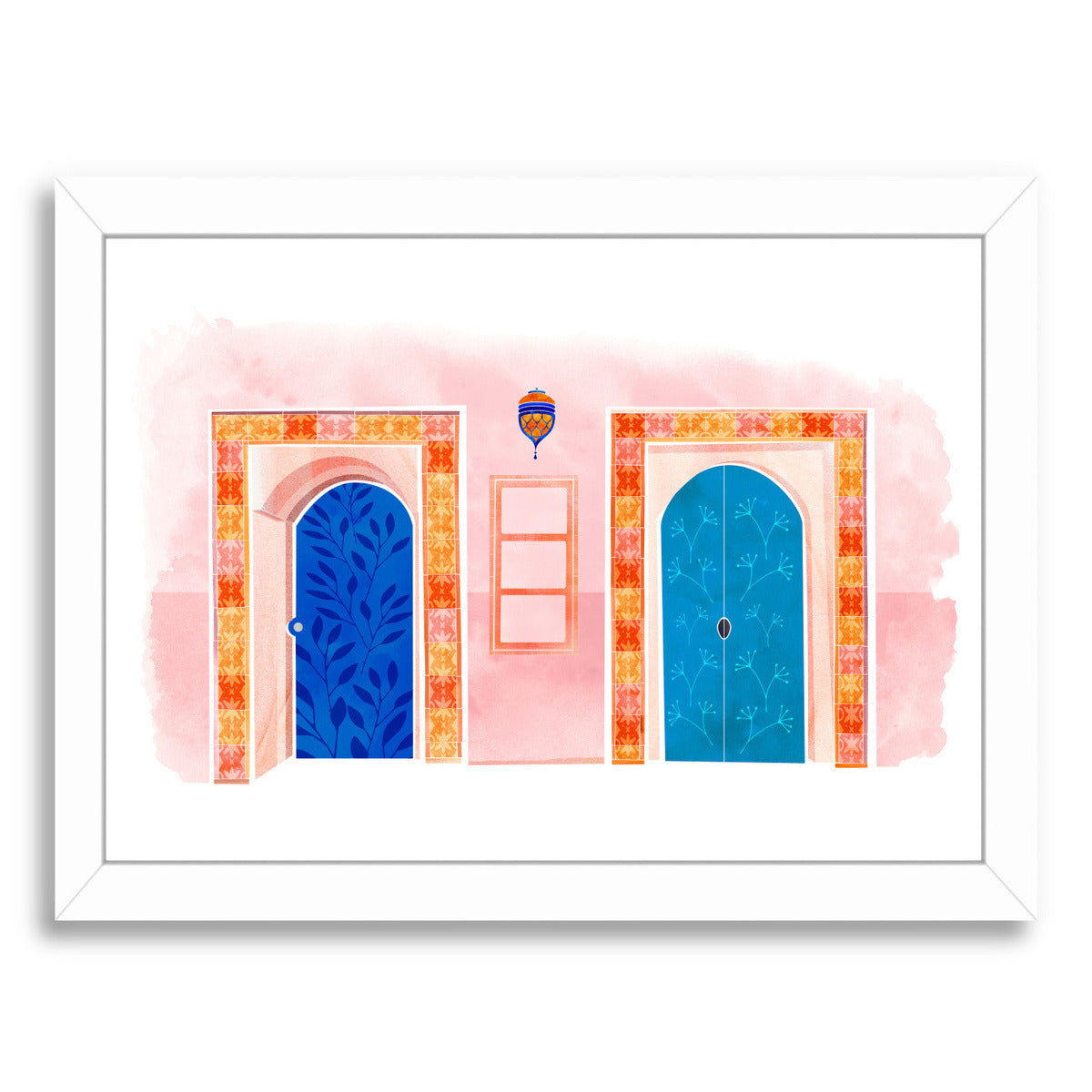 Neighbors By Modern Tropical - White Framed Print - Wall Art - Americanflat