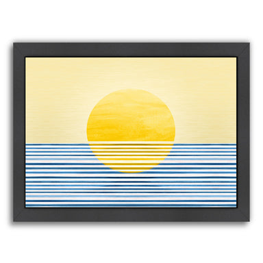 Sunrise Abstract By Modern Tropical - Black Framed Print - Wall Art - Americanflat