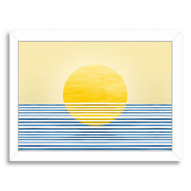 Sunrise Abstract By Modern Tropical - White Framed Print - Wall Art - Americanflat