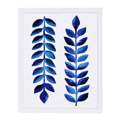 Tropical Indigo By Modern Tropical - White Framed Print - Wall Art - Americanflat