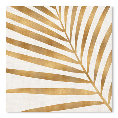 Gold Palm Leaf by Modern Tropical - Art Print - Americanflat