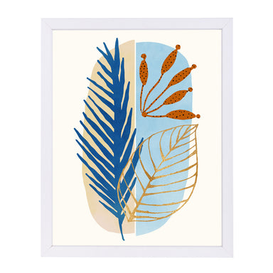 "Flora Abstract By Modern Tropical - White Framed Print, Wall Art, Modern Tropical, 8"" x 10"""