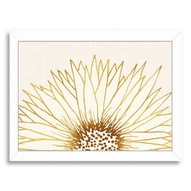 Simple Sunflower By Modern Tropical - White Framed Print - Wall Art - Americanflat
