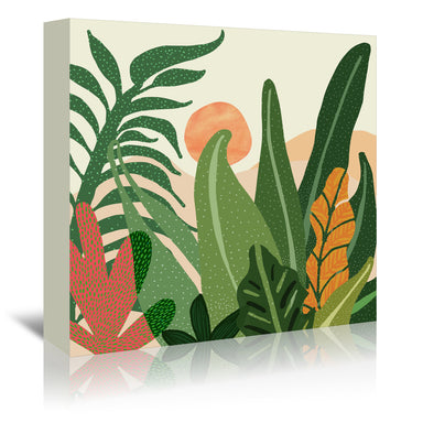 Desert Garden Sunset By Modern Tropical - Wrapped Canvas - Wrapped Canvas - Americanflat