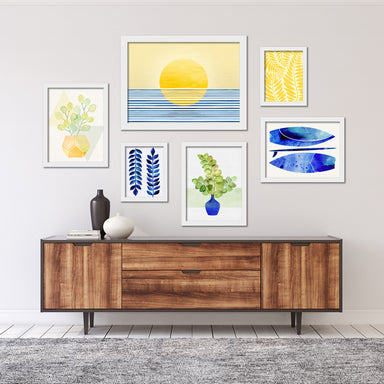 Modern Tropical Framed Gallery Wall Set-2 - Art Set - Americanflat