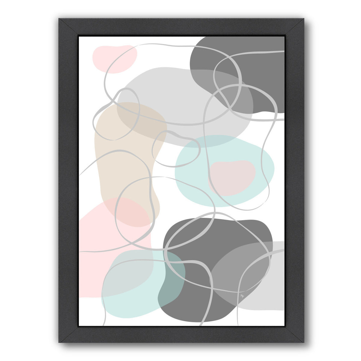 Stones 1 By Martina - Black Framed Print - Wall Art - Americanflat