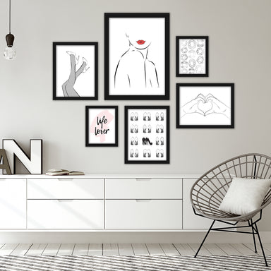 Fashion Line Art Framed Gallery Wall Set - Art Set - Americanflat