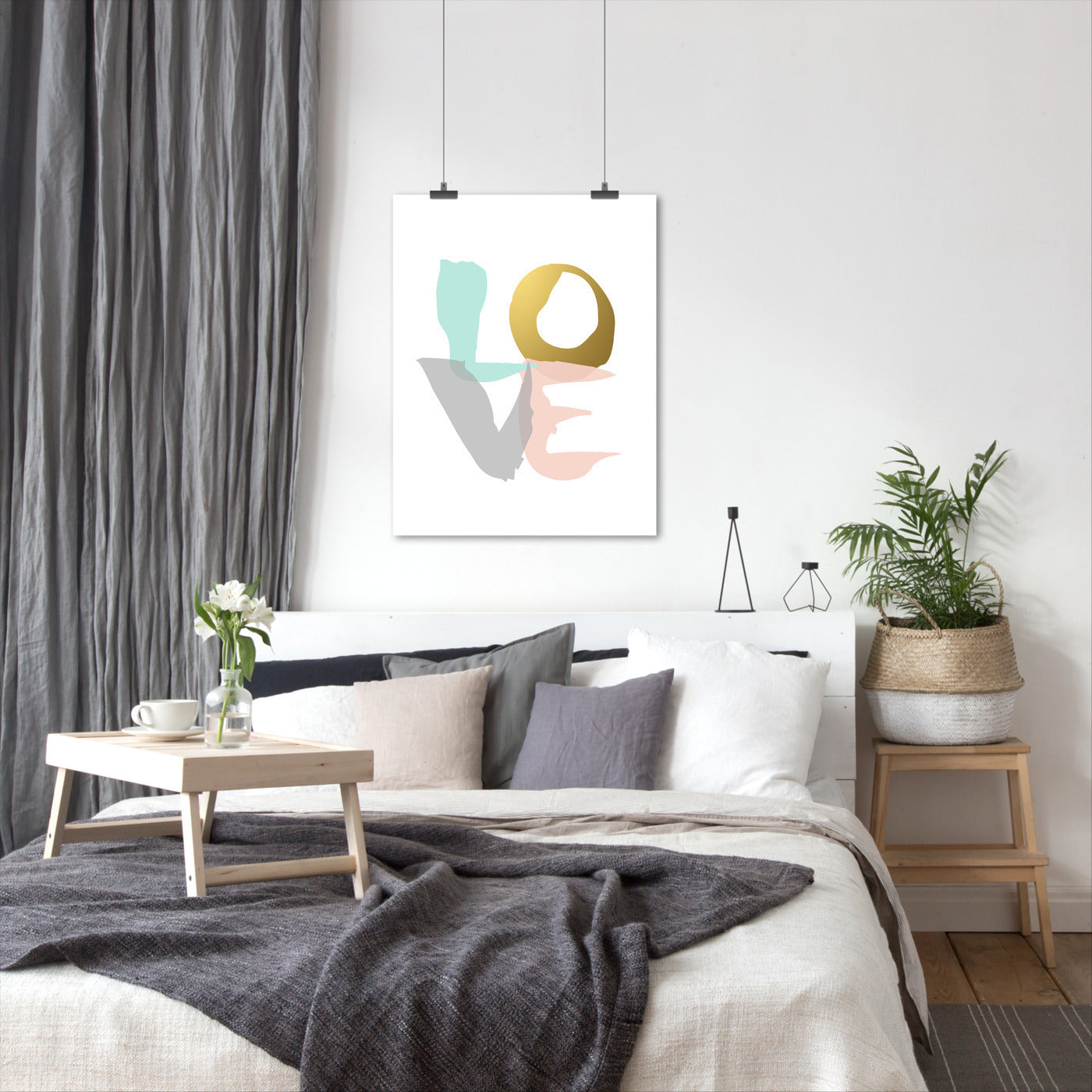 Love Mint Blush Gold by Wall + Wonder - Art Print - Americanflat