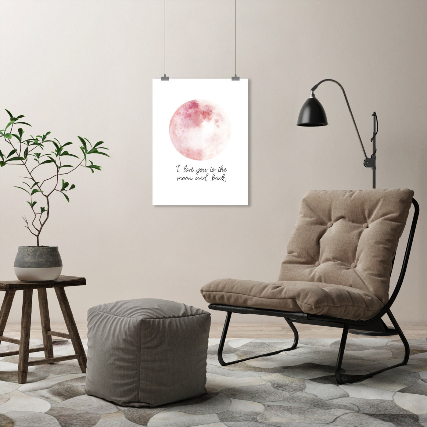 Pink Moon And Back by Wall + Wonder - Art Print - Americanflat
