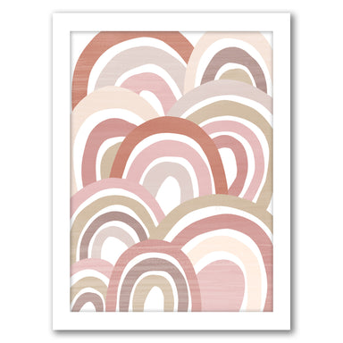 Overlapping Rainbows Nursery Print By Wall + Wonder - White Framed Print - Wall Art - Americanflat